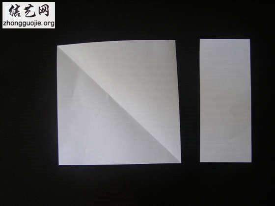 折叠的小纸盒 垃圾盒的折法图解╭纸的折法