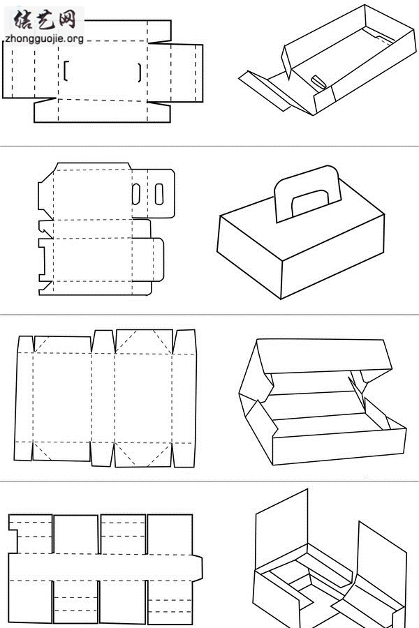 自制糖果盒图纸大全 手工纸盒收纳盒制作图解╭纸的折