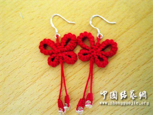 红绳做的耳环,-编法图解-作品展示-中国结论坛