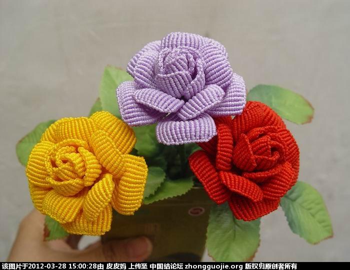 中国结 玫瑰花教程