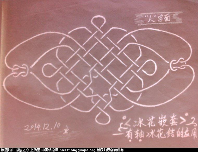 中国结论坛 【阅读简图】认识冰花结的简图 基础知识,示意图,中心 冰花结(华瑶结)的教程与讨论区 172003y7erjm52ty77332j