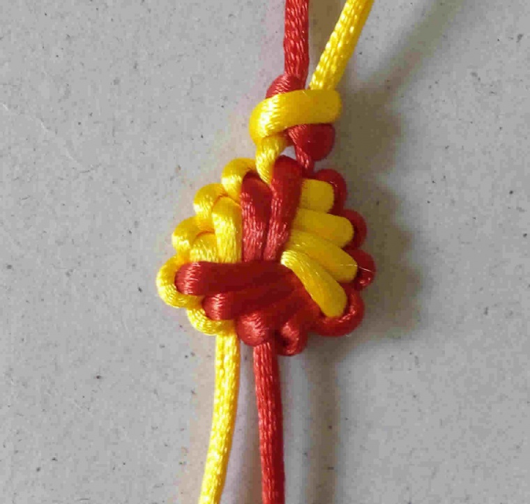 毛毛娃妈的中级达标申请-编法图解-中国绳结艺术分级