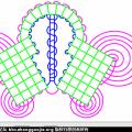盘长结布线图