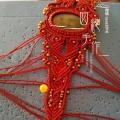 金珠红手绳