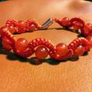 蛇结波浪形玛瑙手链(新增手绘教程)