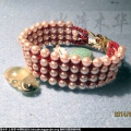 [水清木华作品]14-92粒珍珠和平结编的手链