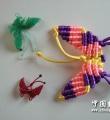 用塑料线编的小蝴蝶