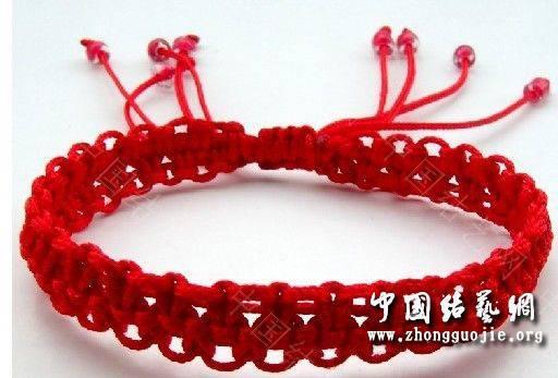 中国结论坛 一款适合初学者的红色手链  图文教程区 100026zdffa5nfooocowcf