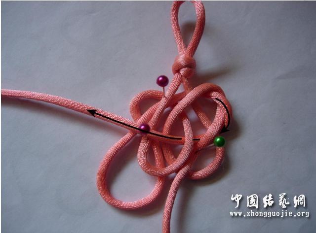 中国结论坛 四耳A型旋叶结单结练习3  冰花结(华瑶结)的教程与讨论区 101515k4p152v426052m83