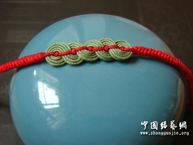 尝试做了一个铜钱手链-编法图解-作品展示-中国结