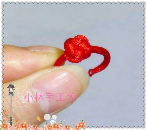找了好久的纽扣结红绳戒指-编法图解-作品展示-中国