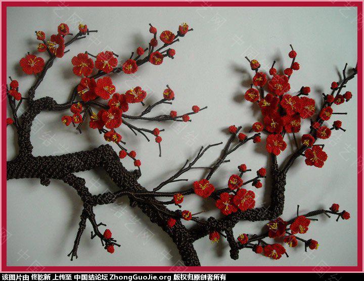 中国结论坛 用结艺编的梅花部分放大图片  作品展示 170641rbryynq1ifzrf500