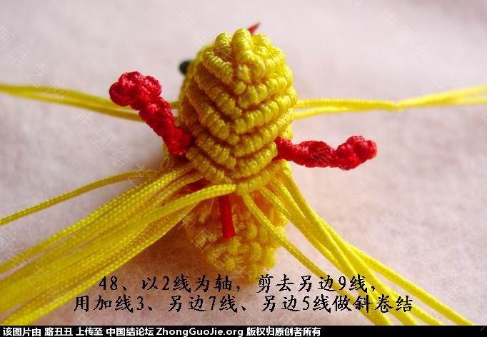 中国结论坛 路丑丑原创结艺教程-----小鸡(下)  立体绳结教程与交流区 165455mbazxw0izrkmfba5