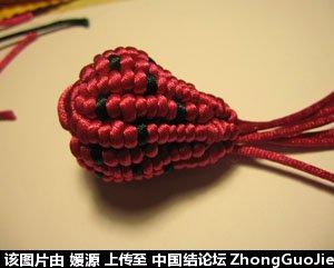 中国结论坛 5号线编的草莓教程  立体绳结教程与交流区 1618262ofc5v5c2553gmpm