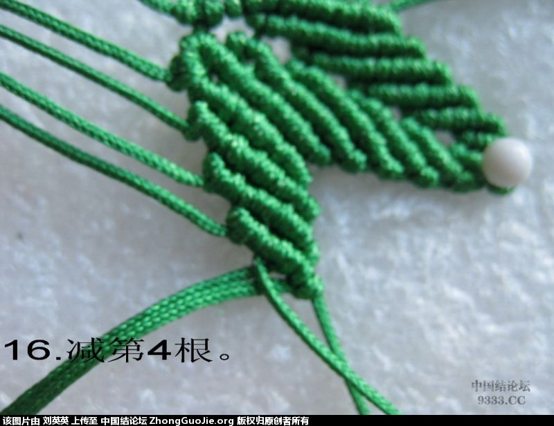 中国结论坛 五瓣树叶的编法-中国结枫叶编法  立体绳结教程与交流区 205459k5mmxtqm252x295t