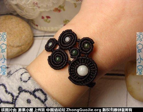 """中国结论坛 """"思绪万千""""手链终于完成喽! 手链 作品展示 163745r4455nb3rb5ou8vn"""