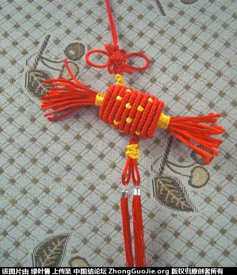 我的斜卷结车挂-编法图解-作品展示-中国结论坛