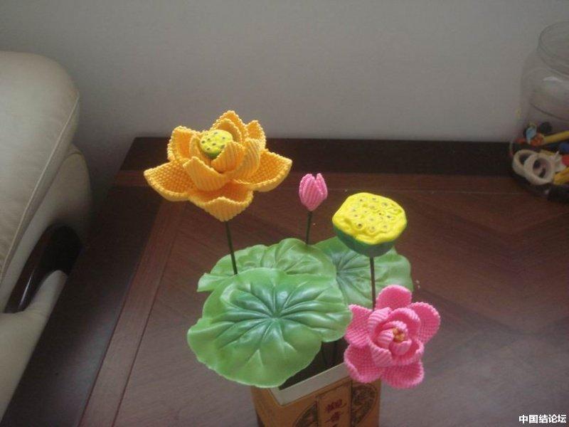 我编的莲花-编法图解-作品展示-中国结论坛
