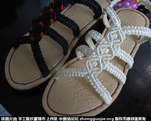 手工编织凉鞋