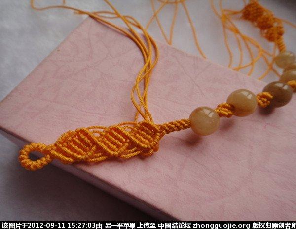 斜卷结转运珠手链-编法图解-作品展示-中国结论坛