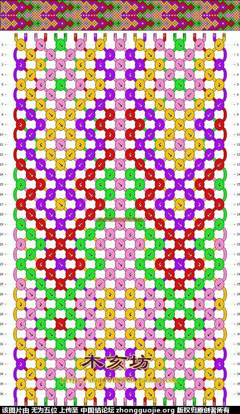 中国结论坛 七彩波纹手链(带图纸)  图文教程区 1103086z2tt6nfxfk46ibz