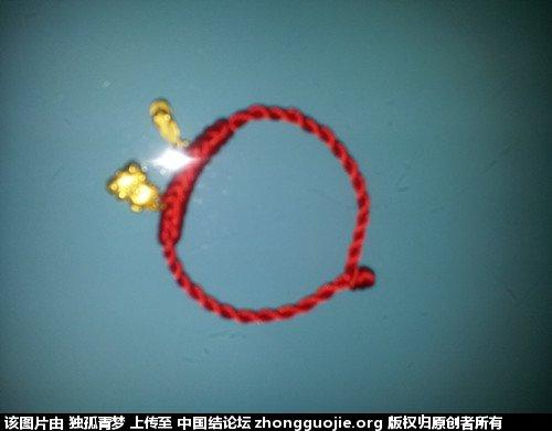 红绳手链(玉米结)-编法图解-作品展示-中国结论坛