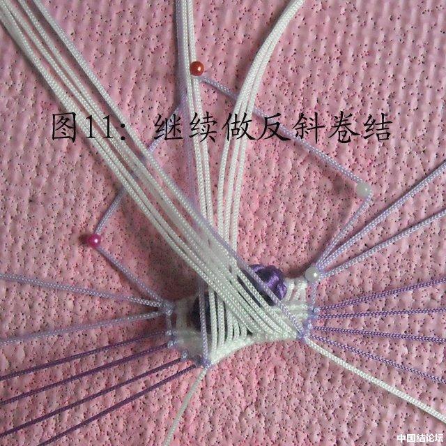 立体小金鱼的编结过程-编法图解-立体绳结教程与交流