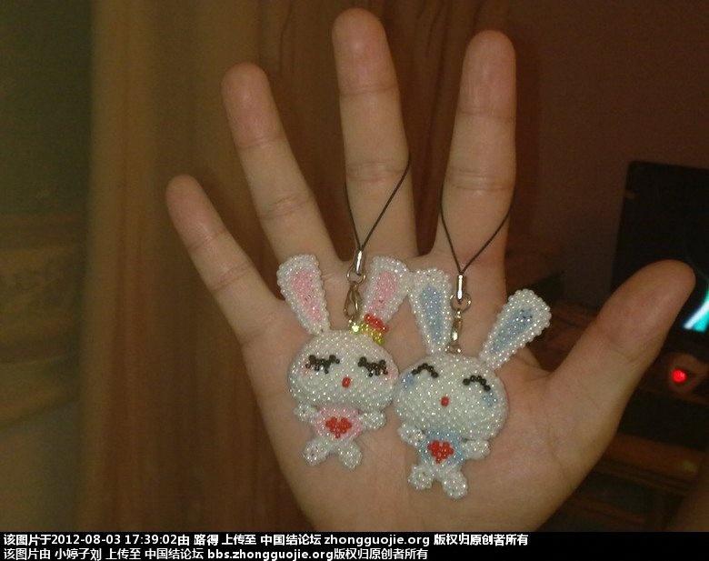 中国结论坛 斜卷结情侣小兔 小兔,情侣,大红色,小兔子 立体绳结教程与交流区 154957yx0dxllnnqux0xon