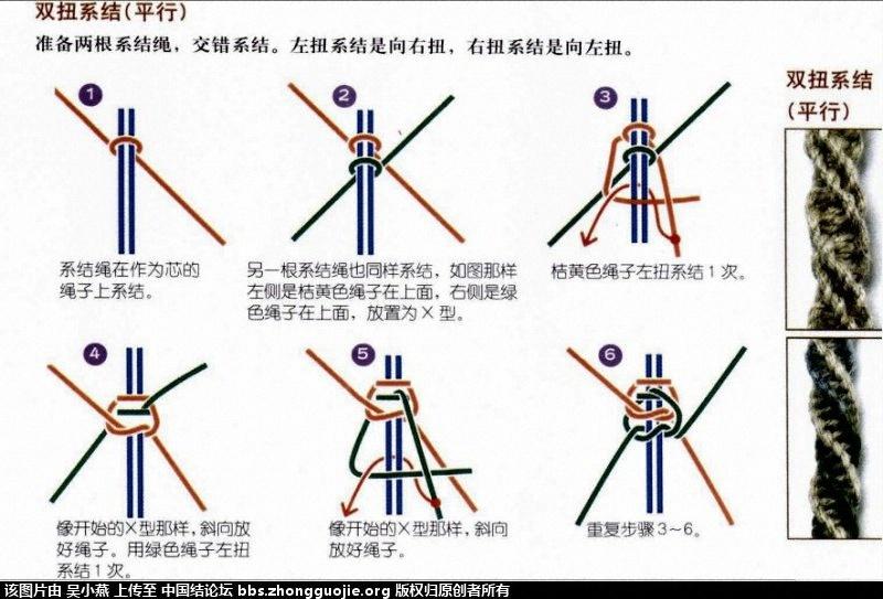 中国结论坛 平结手链简单的变法  图文教程区 184705mw4ag3ry4ymzye42