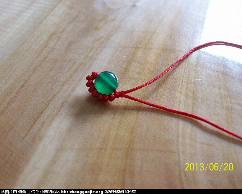 白玛瑙红绳戒指(附简易图文教程)