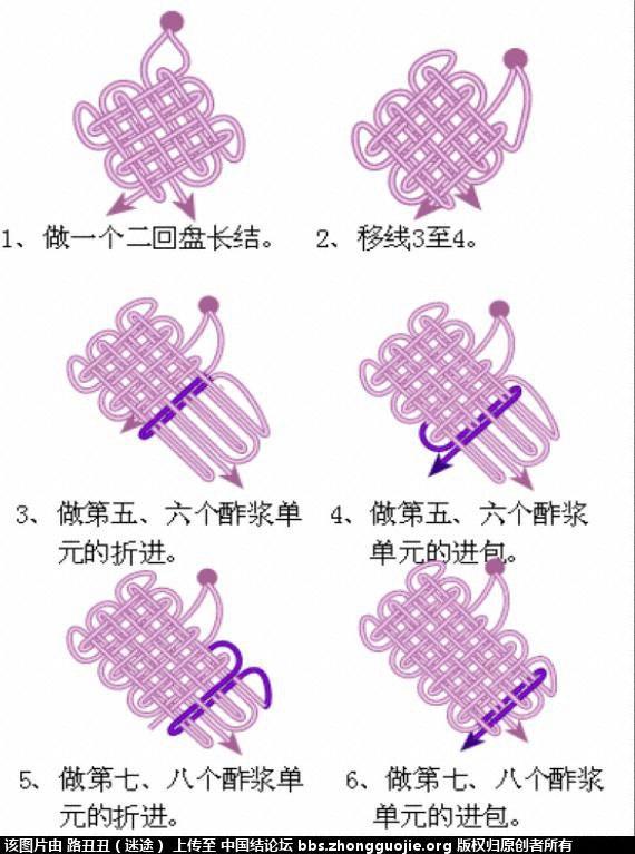 中国结论坛 二、正磬结与倒磬结  丑丑徒手编结 0912492jn578e41jmxm2xx
