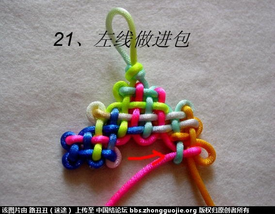 中国结论坛 金钟结主线实物图例 金钟 丑丑徒手编结 12163544kaak4tnephkh74