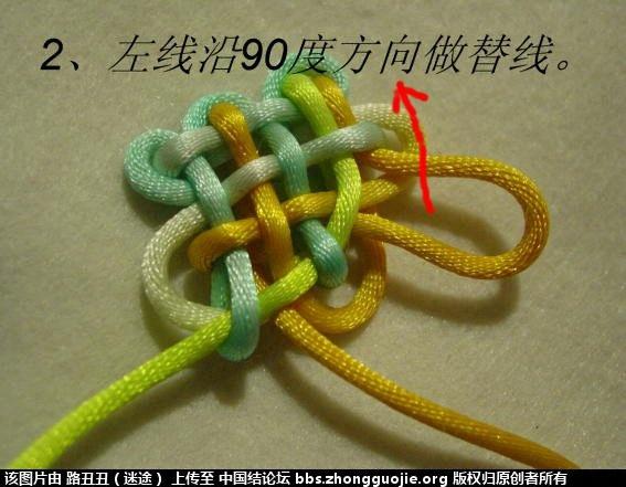 中国结论坛 十五、四分之一圆(实物图解) 先来 丑丑徒手编结 2059364zgvaq8v4gwy4jev