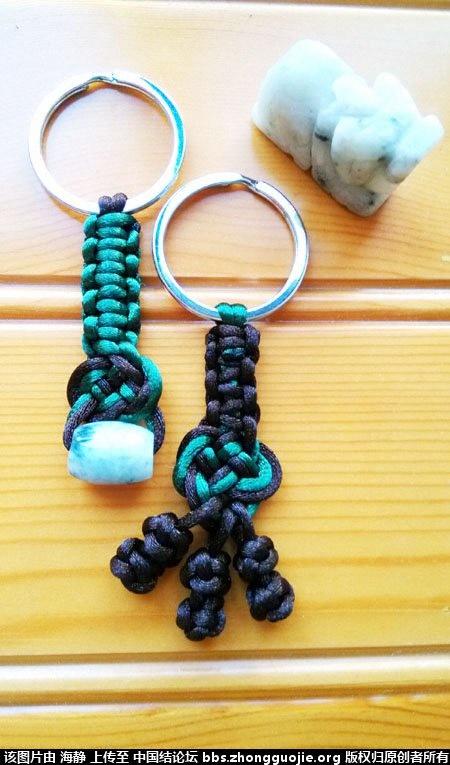 平结玛瑙珠手绳 钥匙扣-编法图解-作品展示-中国结