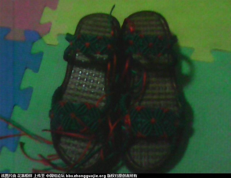进行中的中国结凉鞋-编法图解-作品展示-中国结论坛