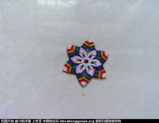 七色彩虹花-编法图解-作品展示-中国结论坛