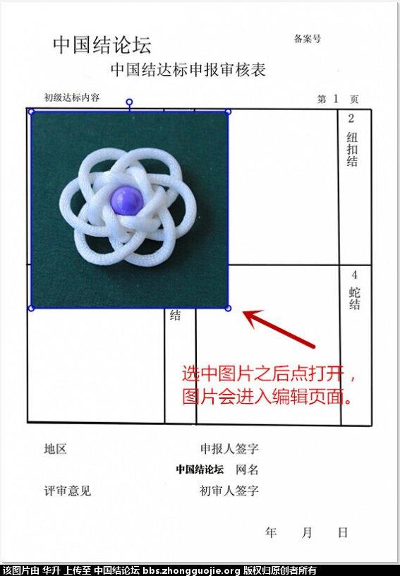 中国结论坛 达标审核表格下载------和表格图片编辑方法 图片 中国绳结艺术分级达标审核 205947zsklq0tcscqdpduc