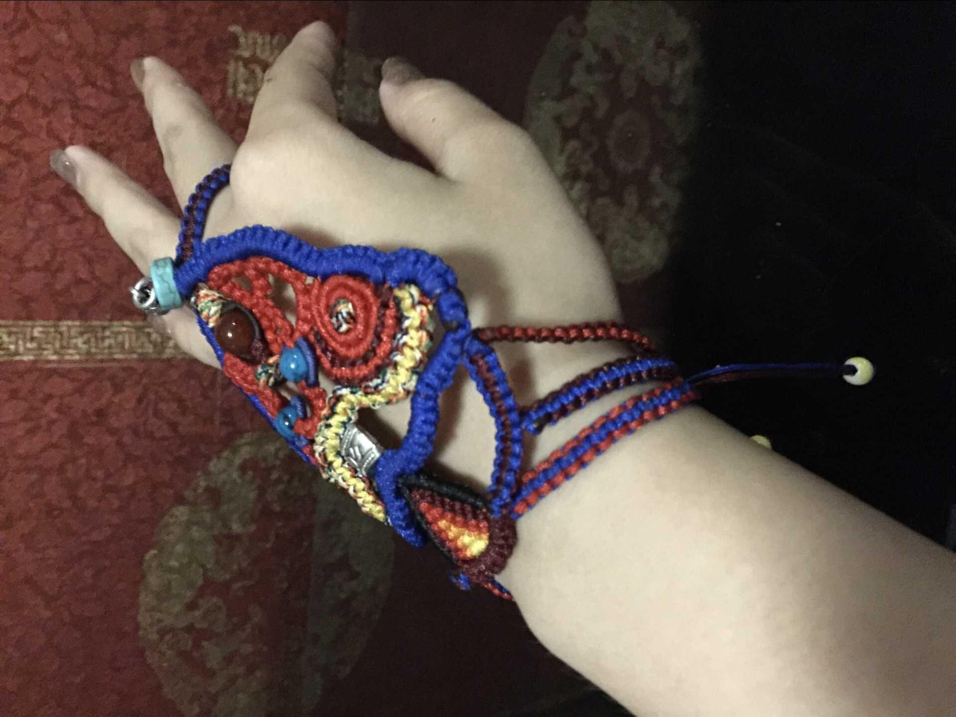 中国结论坛 我编的带在手背上的民族风饰品,第一次自己设计,感觉棒棒哒 民族,饰品 作品展示 120625o1u1ww5woupy21ww