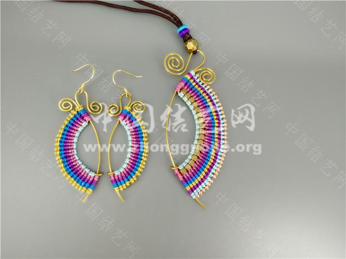 耳环和项链-编法图解