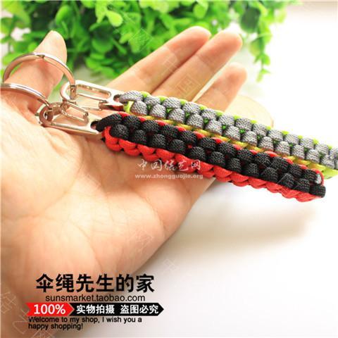 伞绳钥匙扣-编法图解-作品展示-中国结论坛