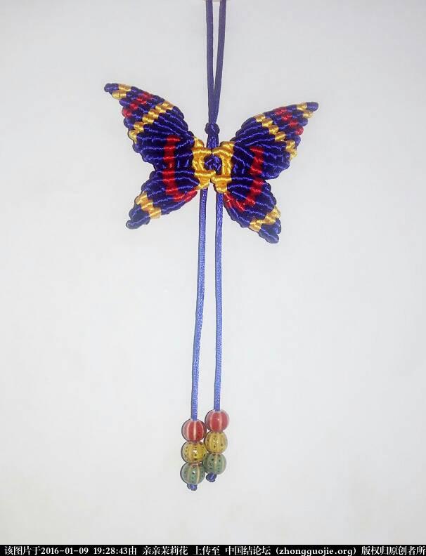 另一款蝴蝶第2页-编法图解-作品展示-中国结论坛