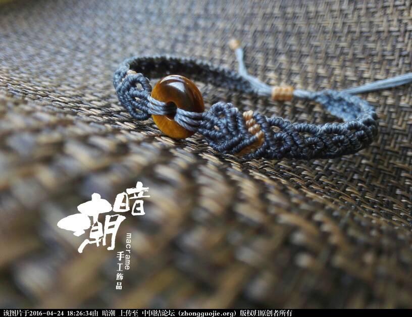 平安扣手链-编法图解-作品展示-中国结论坛