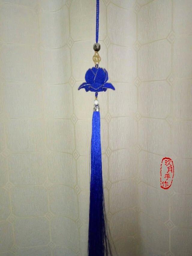 【吉祥莲花】之蓝色的梦-编法图解-作品展示-中国结
