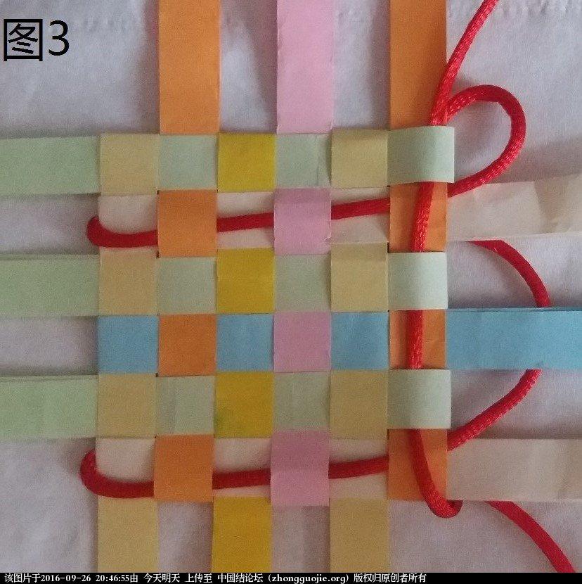 中国结论坛 3x3 盘长结延伸版  (利用纸条编的)  基本结-新手入门必看 204330bgg4fag2gmjtmgg3