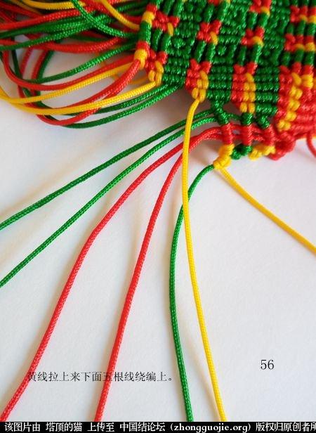 中国结论坛 圣诞树小香包 圣诞树,香包 立体绳结教程与交流区 113437u44hynlvynv64kvy