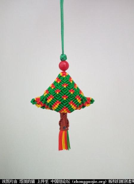 中国结论坛 圣诞树小香包 圣诞树,香包 立体绳结教程与交流区 114124w9annh9dhvy940vf