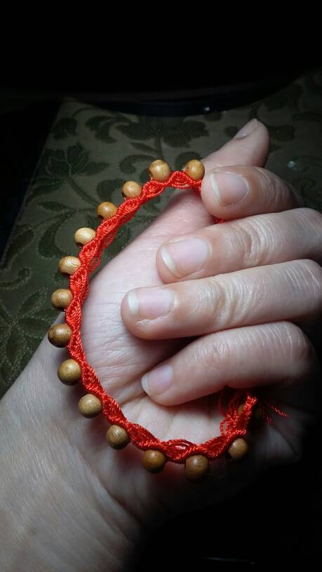桃木珠红线手链-编法图解-作品展示-中国结论坛