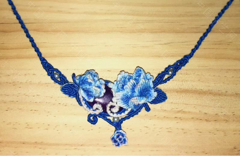 中国结论坛 [原创]蓝色牡丹项链  作品展示 111029rh3wfhmquneo0pq7