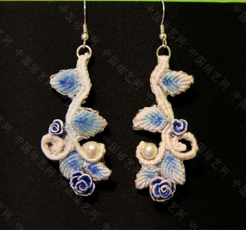 中国结论坛 蓝色牡丹耳坠,项链的配套款  作品展示 073613xebmbohp6v3vvyej