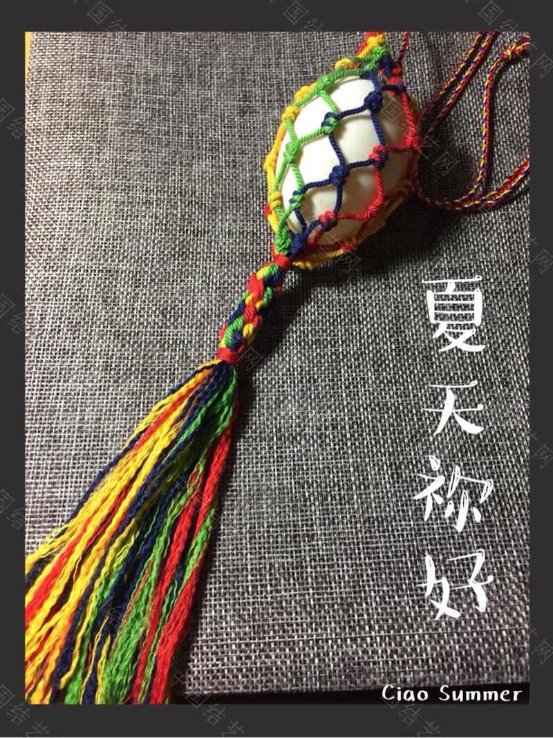 立夏蛋挂-编法图解-作品展示-中国结论坛